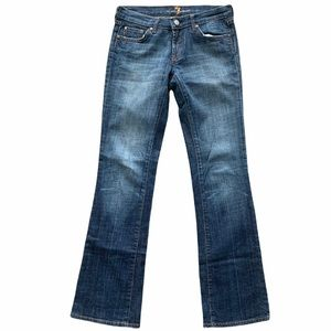 7 For All Mankind Rhinestone Pocket Bootcut Jeans